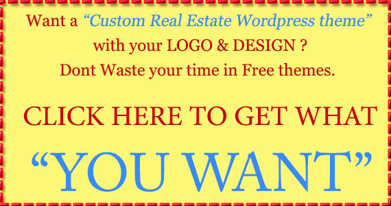 Custom real estate wordpress theme development