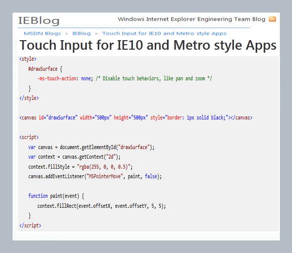 Metro style Apps