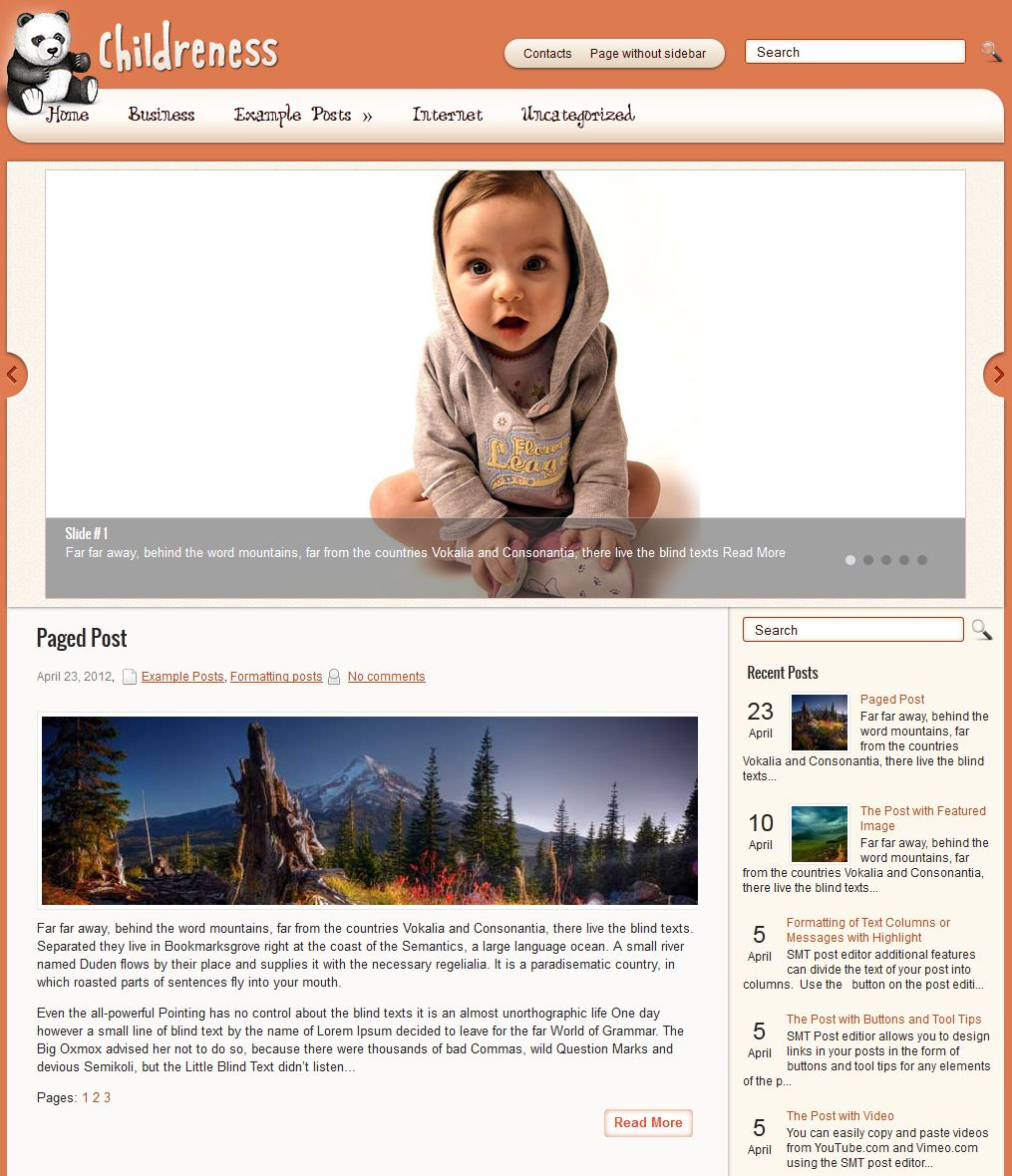Childreness WordPress Theme