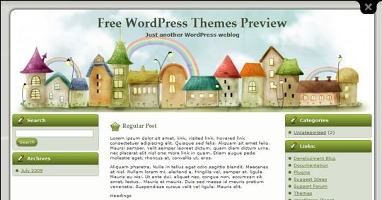 Stretch of Houses WordPress Theme
