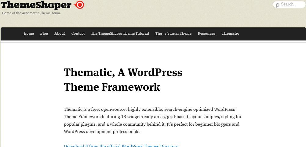 Thematic - WordPress Theme Framework