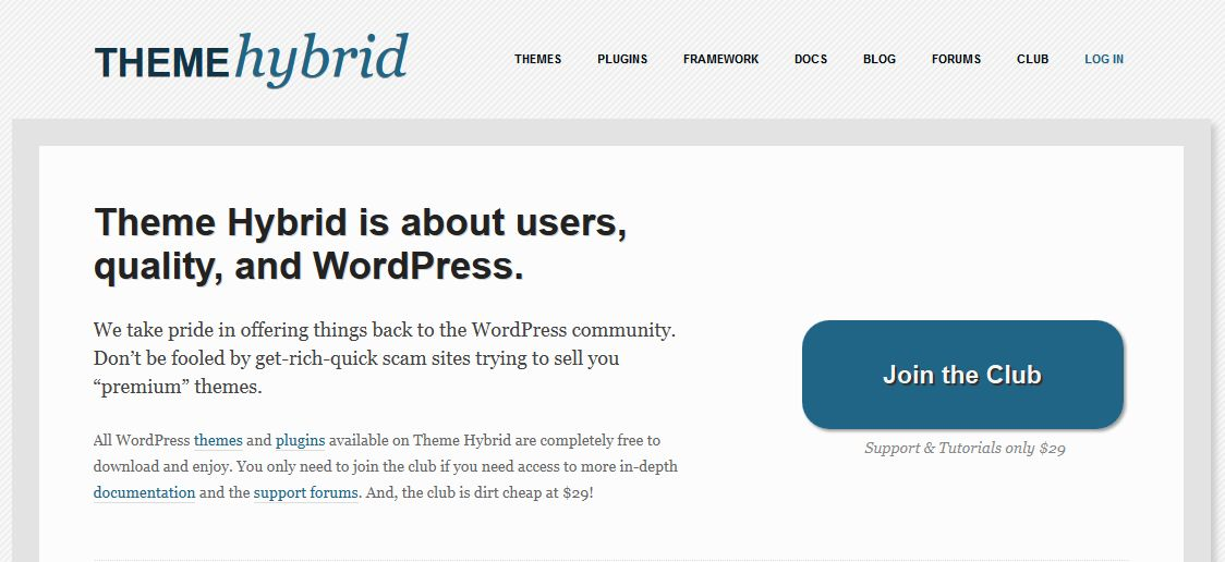 hybrid - WordPress Theme Framework