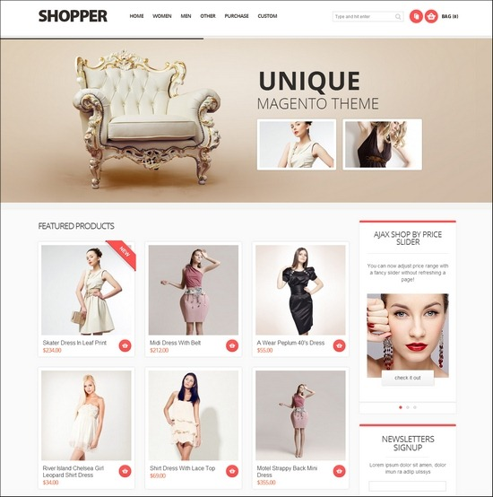 Shopper -Magento Responsive eCoomerce Theme