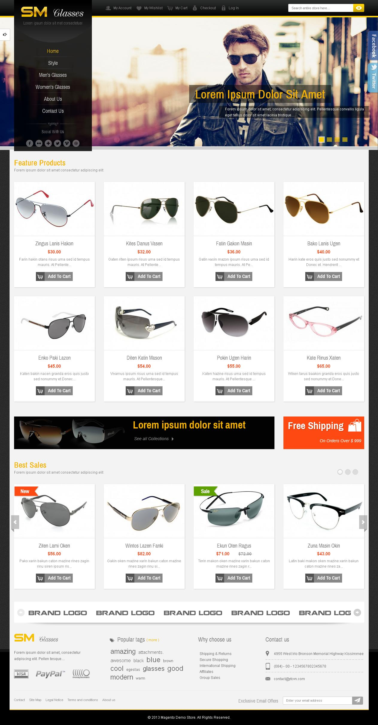 SM Glasses - Magento eCommerce Theme