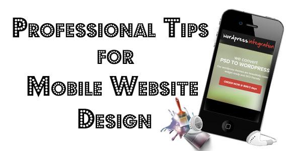 Mobile Website Design Tips