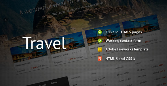 travel-responsive-template
