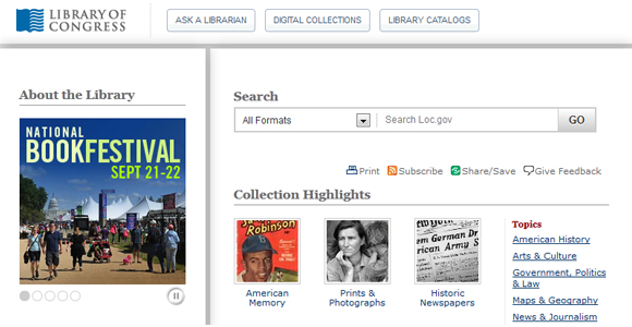 Library of Congress Digital Collections
