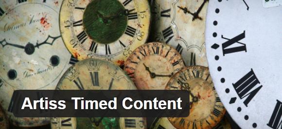 artiss-timed-content-wordpress-plugin