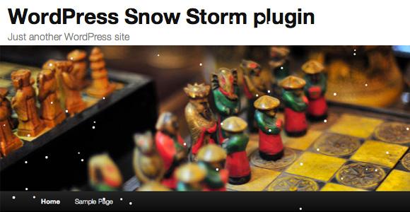 Snow Storm-wordpress plugin