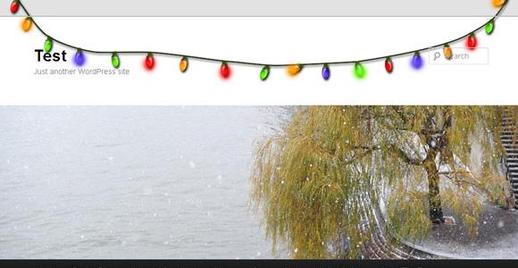 Xmas Lights wordpress plugin