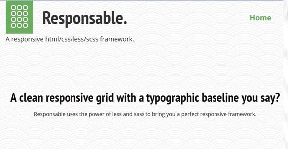 Responsable Responsive Framework