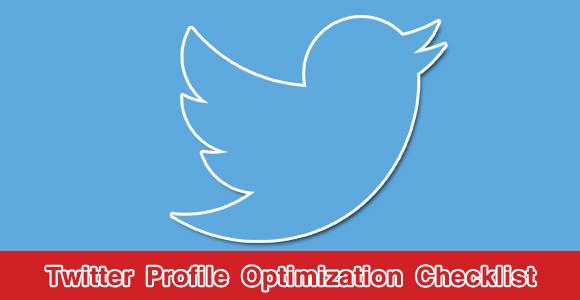 Twitter Profile Optimization