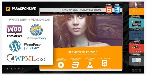 Pararesponsive - WordPress parallax theme