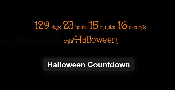 Halloween Countdown - WordPress Plugin