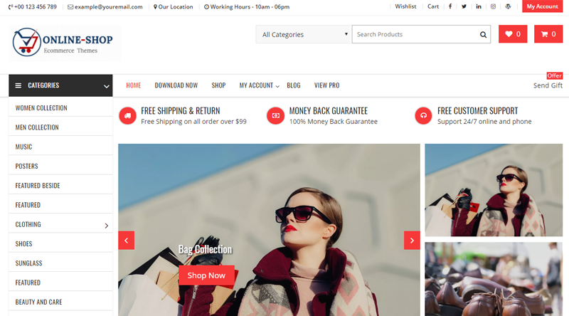 Online Shop WordPress Theme