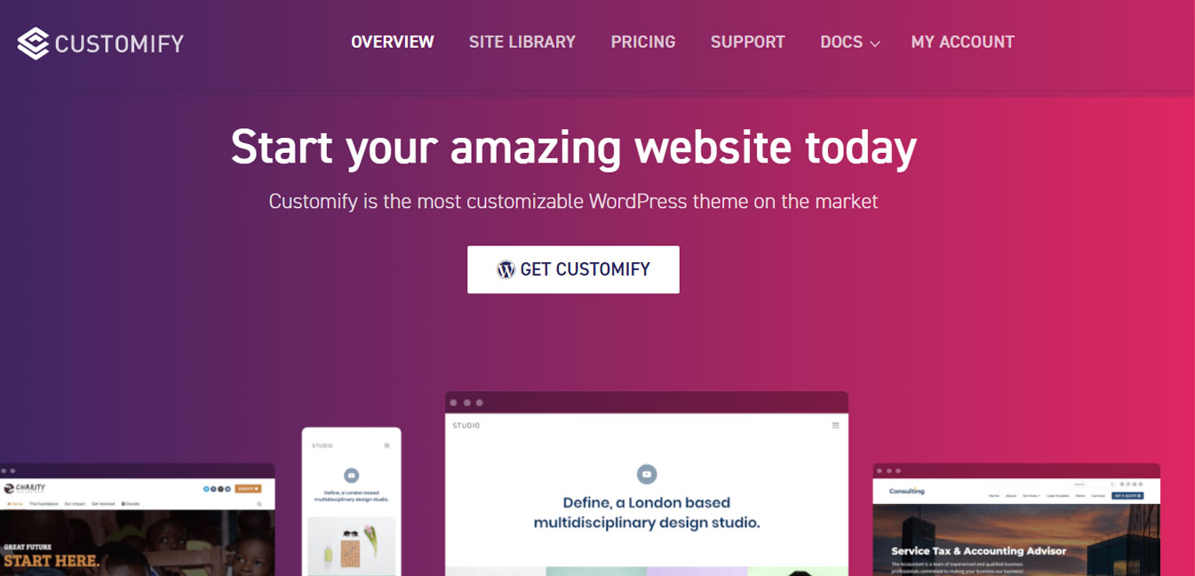 Customify - Free WordPress Customizable Theme