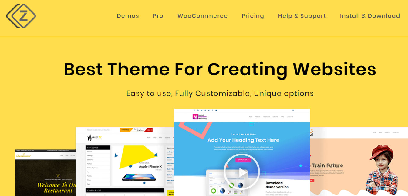 Zita - Free WordPress Customizable Theme