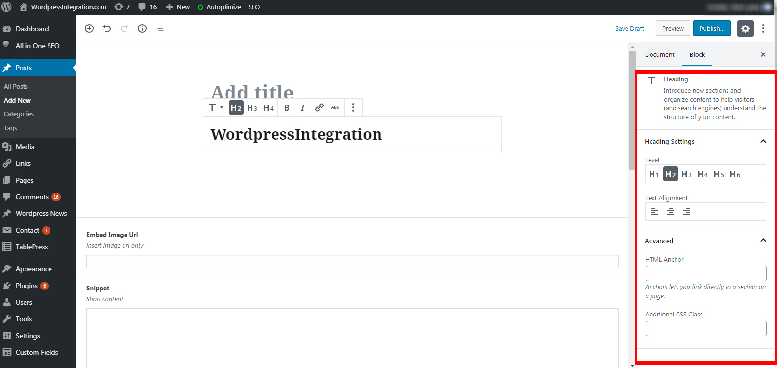 Creating WordPress Gutenberg Block
