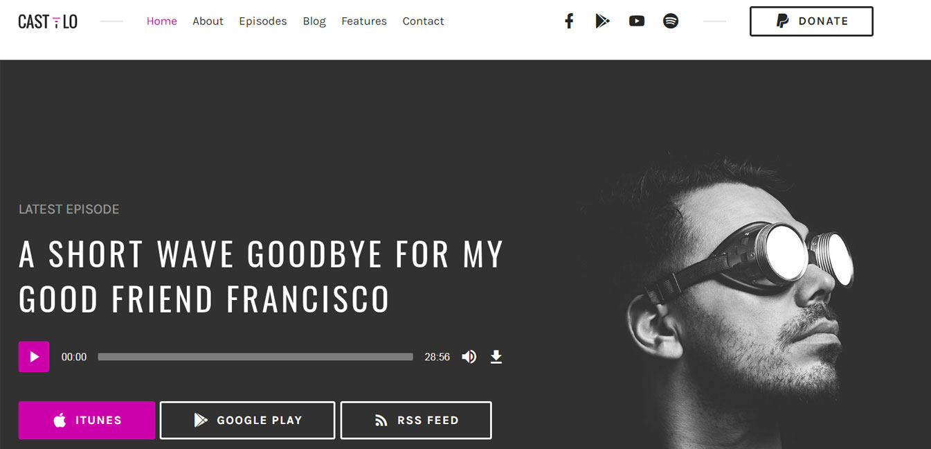 Castilo Audio Podcast WordPress Theme