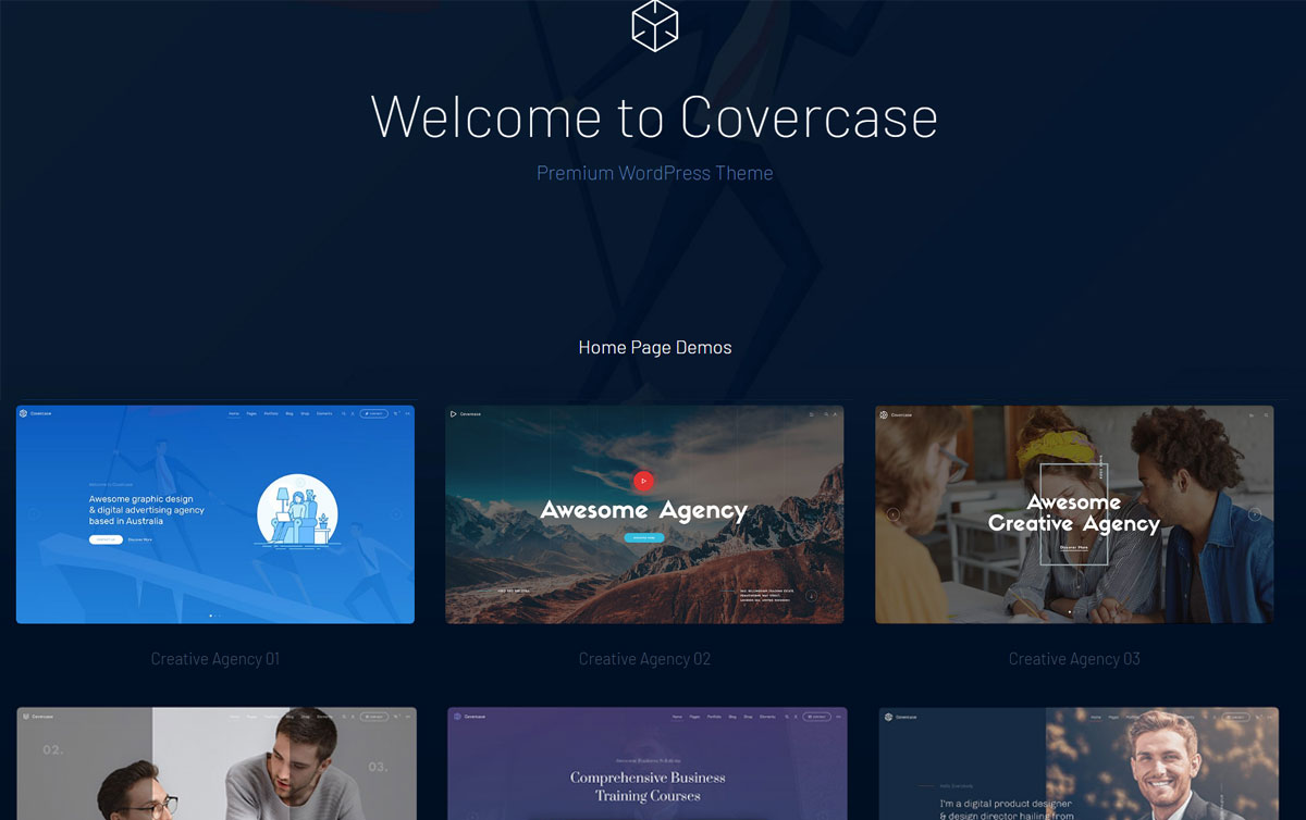 Covercase WordPress Multilingual Theme