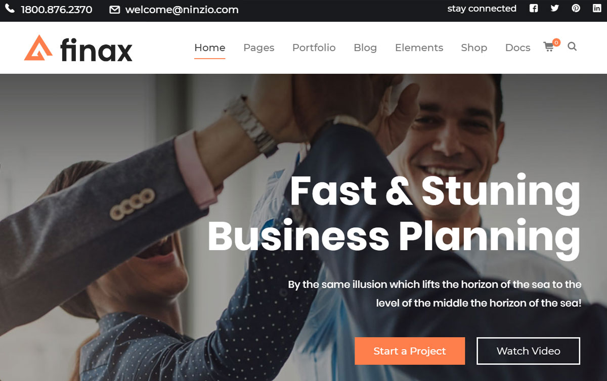 Finax Multilingual WordPress Theme