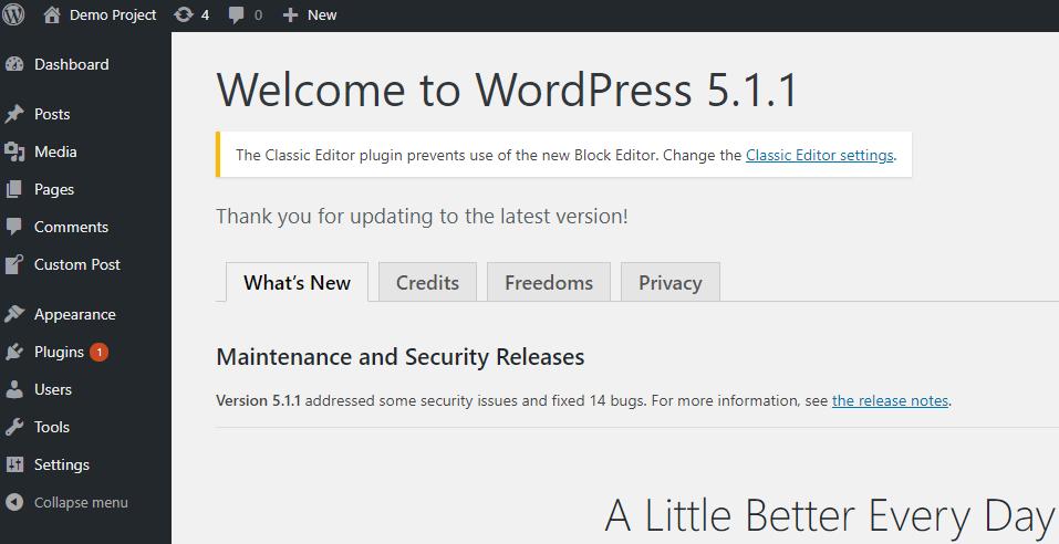 Update WordPress