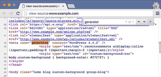 WordPress Generator Tag