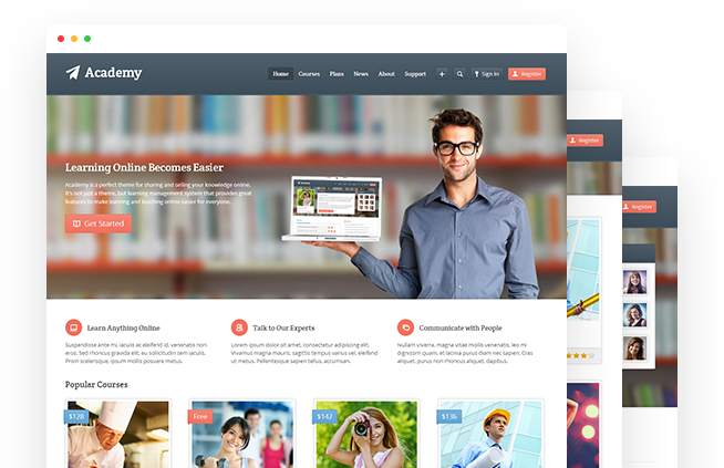 Academy - WordPress LMS Theme