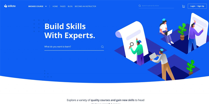 Skillate - WordPress LMS Theme
