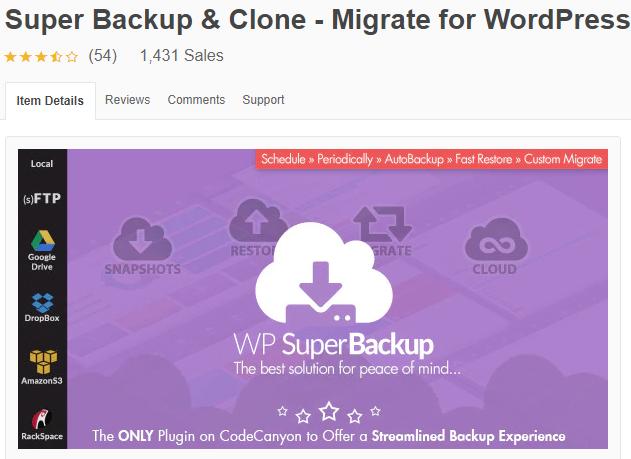 Super Backup & Clone Plugin