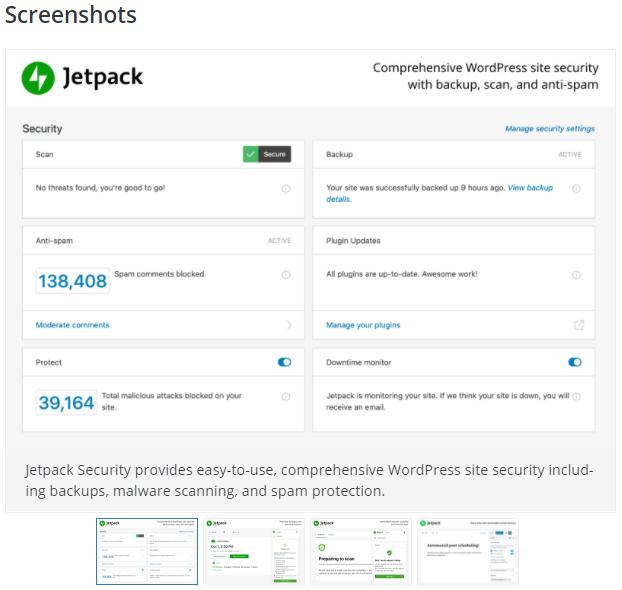 Wordpress Plugin Screenshots